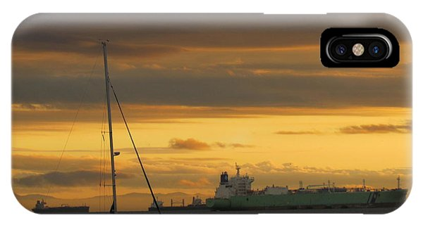 Canal Ship Sunrise IPhone Case