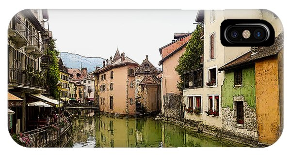 Canal View Number 1 Annecy France IPhone Case