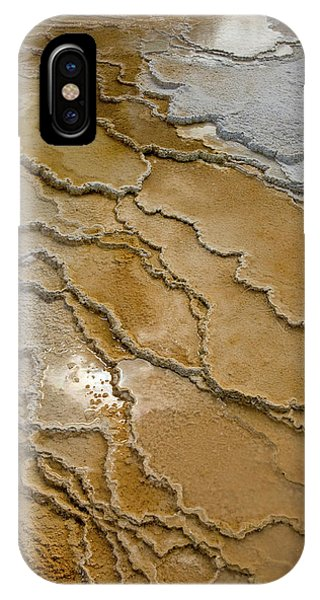 Mammoth Hot Springs iPhone Case - Canary Springs, Mammoth Terrace by Howie Garber