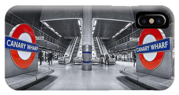 Train iPhone Case - Canary Wharf by Evelina Kremsdorf