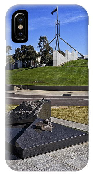 Canberra - Memorial And Parliament House IPhone Case