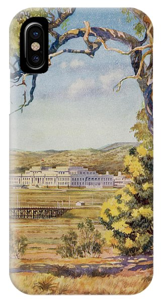 Canberra iPhone Case - Canberra - The Parliament  Buildings by Mary Evans Picture Library