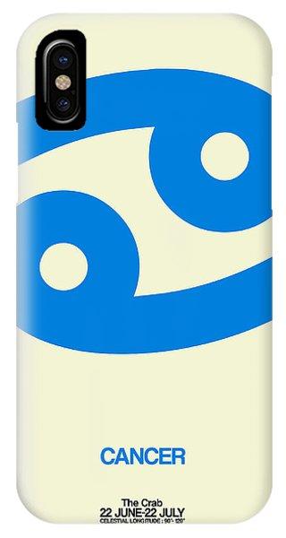 Cancer Zodiac Sign Blue IPhone Case