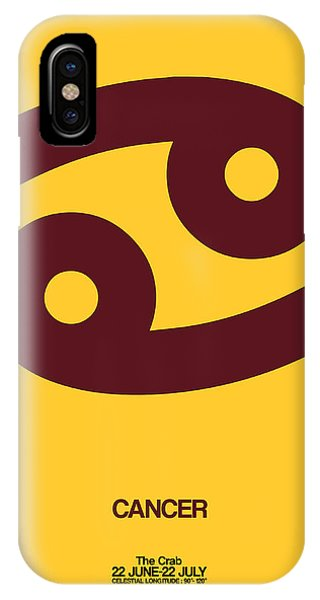 Cancer Zodiac Sign Brown IPhone Case
