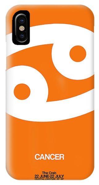 Cancer Zodiac Sign White On Orange IPhone Case
