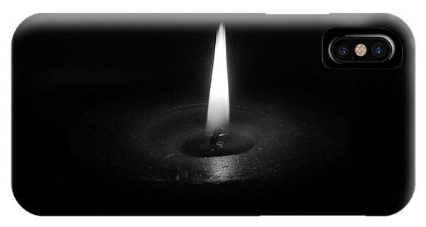 Candle B-w IPhone Case