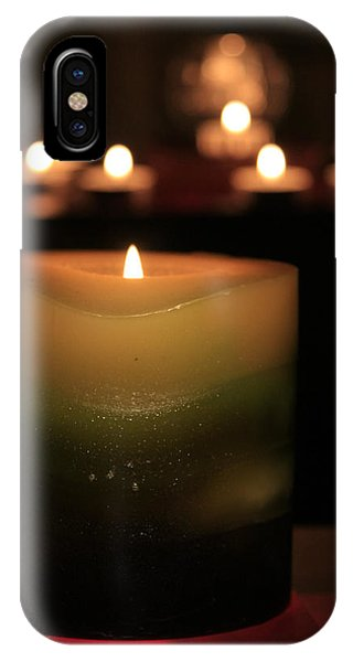 IPhone Case featuring the photograph Candle Light by Susan Leonard