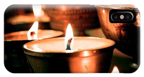 candle light ZUTHRUL PHUG MONASTERY Milarepas Cave IPhone Case