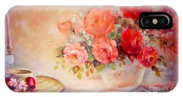 Candlelight Roses And Hat IPhone Case