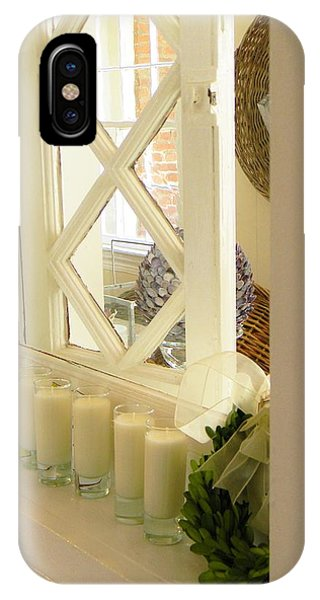 Candles And Wicker And Window IPhone Case