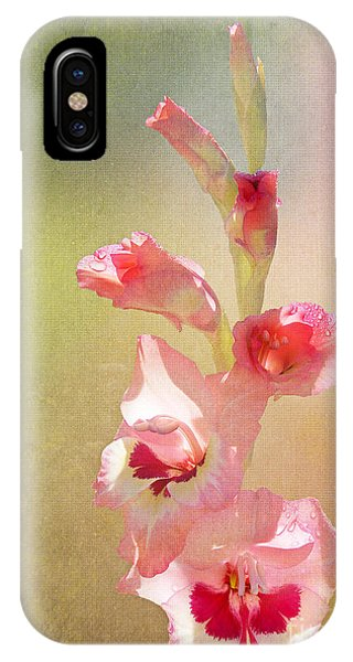 Candy Cane Gladiolas IPhone Case