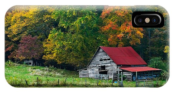 Barn iPhone Case - Candy Mountain by Debra and Dave Vanderlaan