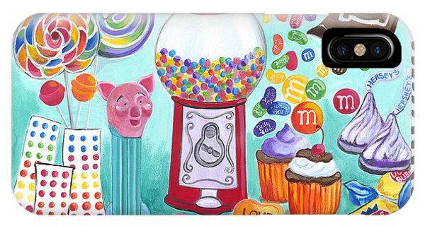 IPhone Case featuring the painting Candy Window by Carla Bank