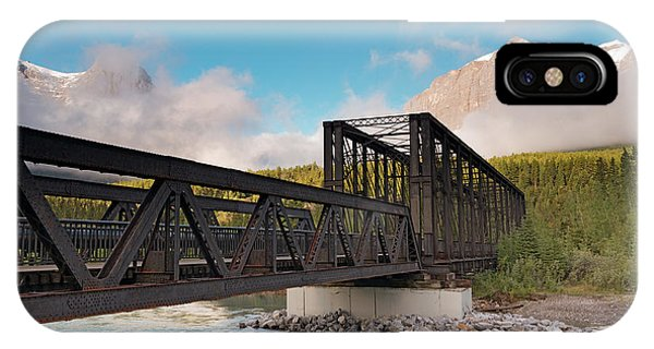 Canmore Engine Bridge On Bow River IPhone Case