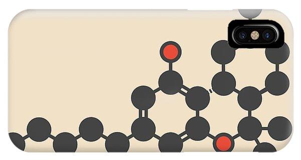 Delta iPhone Case - Cannabis Drug Molecule by Molekuul