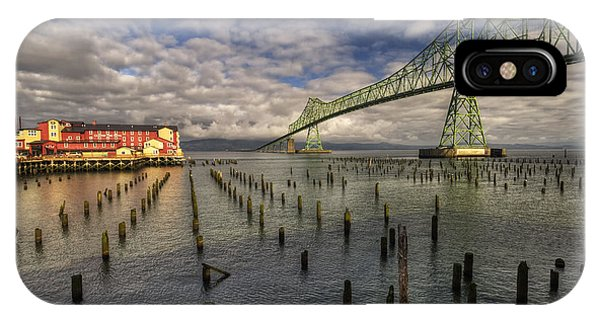Cannery Pier Hotel And Astoria Bridge IPhone Case