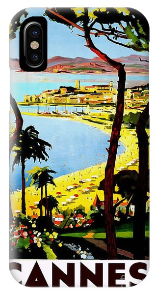 French Riviera iPhone Case - Cannes Vintage Travel Poster by Jon Neidert
