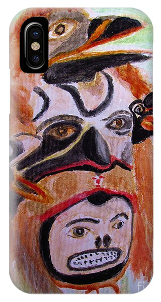 Cannibal Indian Mask IPhone Case