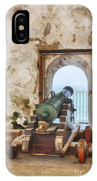 IPhone Case featuring the photograph Cannon At Fort San Felipe Del Morro by Bryan Mullennix