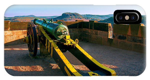 Cannon At The Fortress Koenigstein IPhone Case