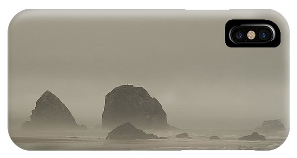 Cannon Beach In A Fog Oregon IPhone Case
