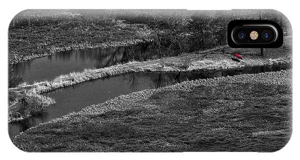 Canoe By Creek II IPhone Case