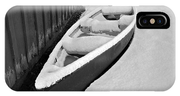 Canoe In The Snow IPhone Case