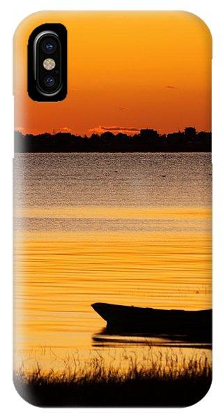 Canoe Sunrise Phone Case by Brian Magnier