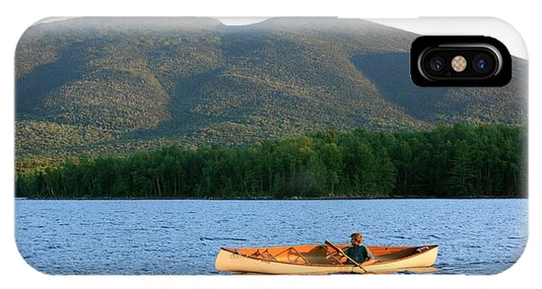 Canoeing Flagstaff Lake IPhone Case