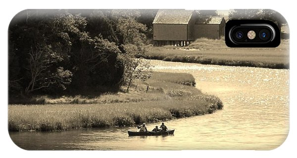Canoeing On Cape Cod  IPhone Case
