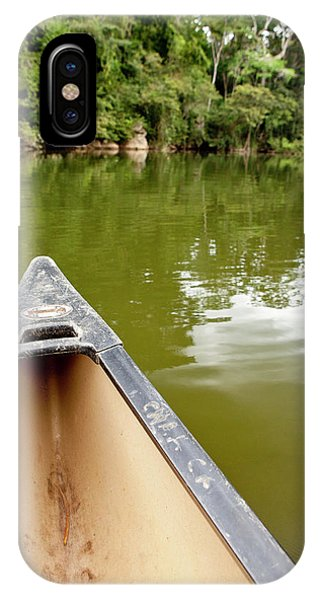 Belize iPhone Case - Canoeing The Macal River In Jungle by Michele Benoy Westmorland