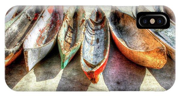 Waterscape iPhone Case - Canoes by Debra and Dave Vanderlaan