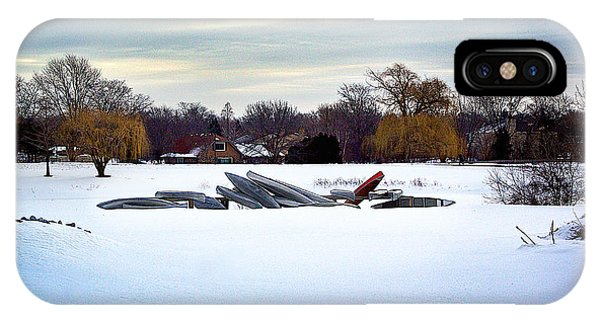 Canoes In The Snow IPhone Case