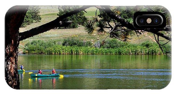 Canoes On Manitou Lake 11957 IPhone Case