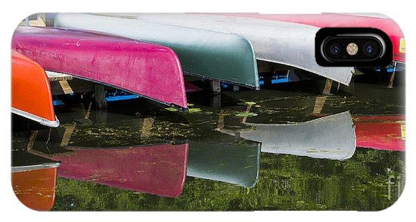 canoes - Lake Wingra - Madison  IPhone Case