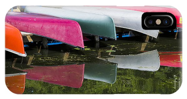 canoes - Lake Wingra - Madison  IPhone Case