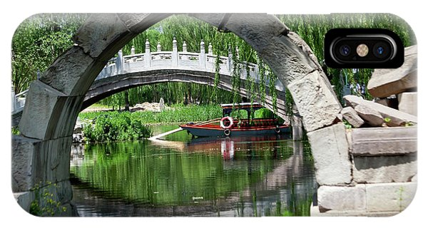 Forbidden City iPhone Case - Canqiao Ruined Bridge In Old Summer by William Perry