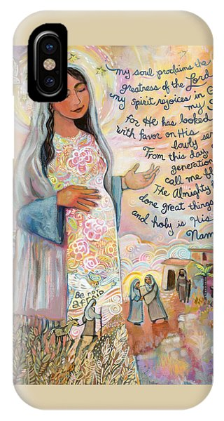 Lord iPhone Case - Canticle Of Mary by Jen Norton