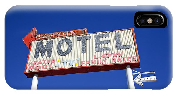 Canyon Motel Sign IPhone Case