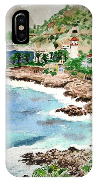 Cap D'ail On A Rainy Day IPhone Case