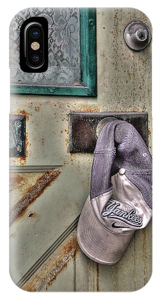 IPhone Case featuring the photograph Cap On Knob by Michael Kirk