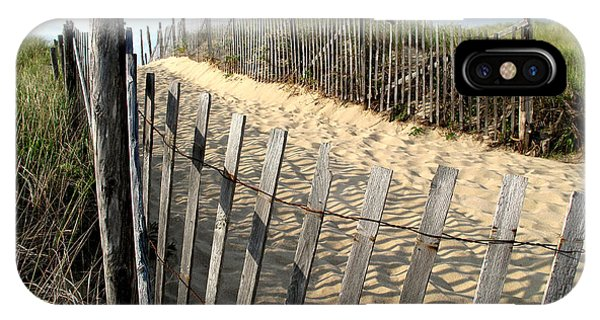 iPhone Case - Cape Cod Dune Fencing by Barbara McDevitt