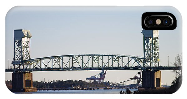 Cape Fear Memorial Bridge IPhone Case