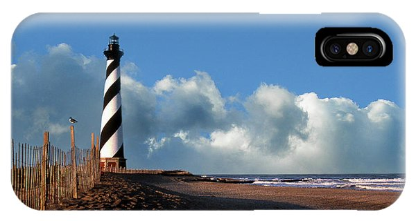 Nc iPhone Case - Cape Hatteras Lighthouse Nc by Skip Willits