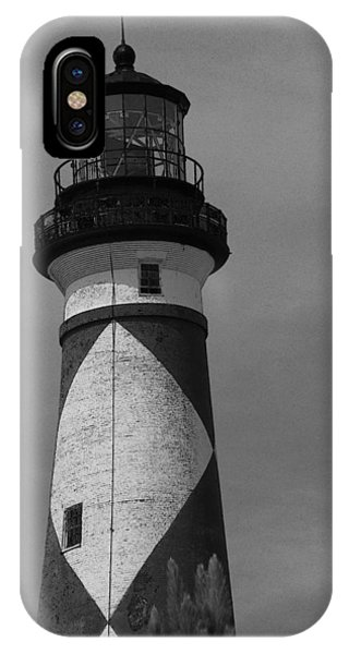 Cape Lookout Light Black And White 2  IPhone Case