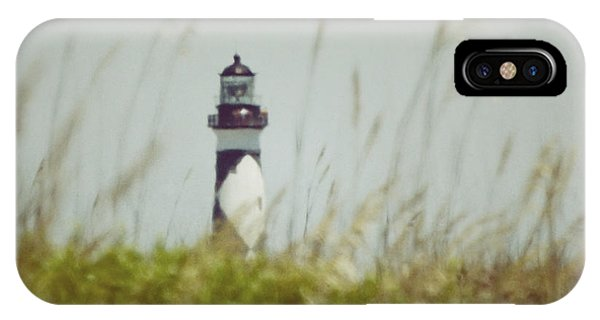 Cape Lookout Lighthouse - Vintage IPhone Case