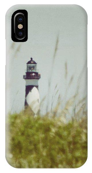 Cape Lookout Lighthouse - Vintage IPhone Case