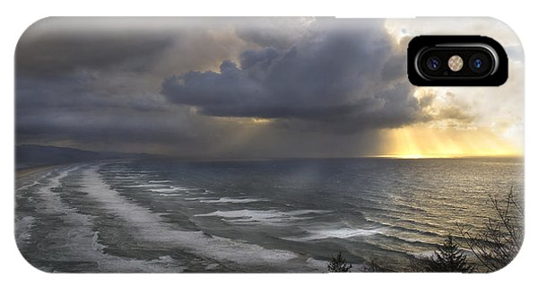 Sunset At Cape Lookout Oregon Coast IPhone Case