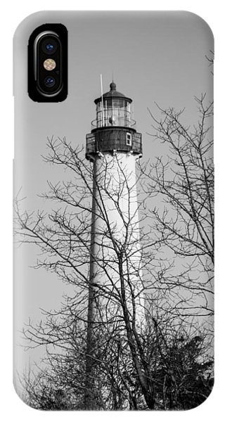 Cape May Light B/w IPhone Case