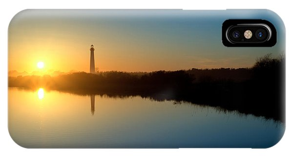 Michael iPhone Case - Cape May Nj Lighthouse At Sunset by Michael Ver Sprill
